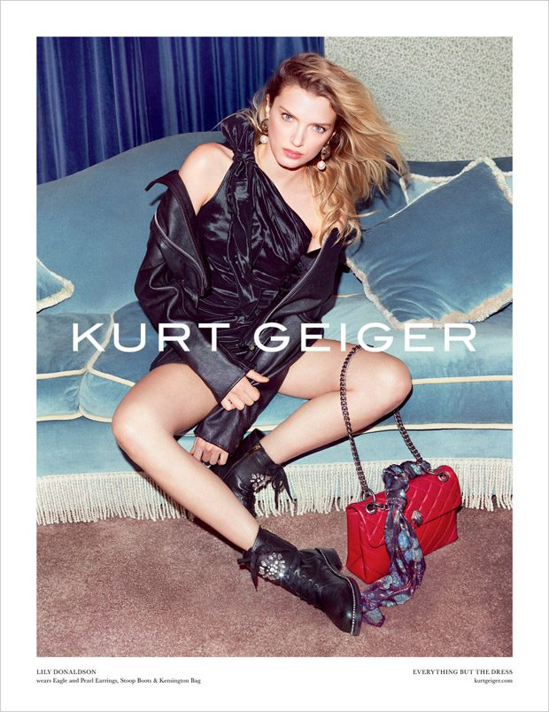 Lily Donaldson Models Kurt Geiger Fall Winter 2017.18 Collection