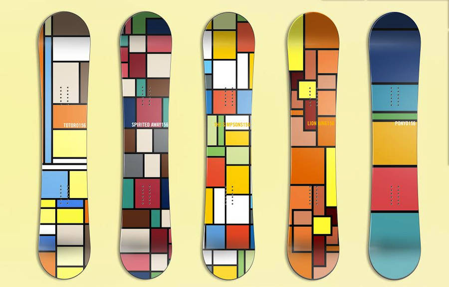 Mondrian Boards Illustrations Inspired by Pop Culture (6 pics)