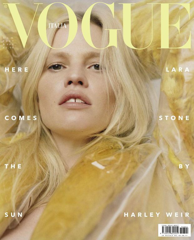 Lara Stone is the Cover Star of Vogue Italia August 2017 Issue (8 pics)