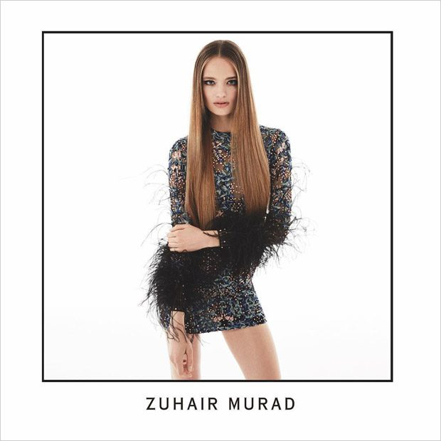 Anna Mila Guyenz Poses in Zuhair Murad Fall Winter 2017.18 Collection