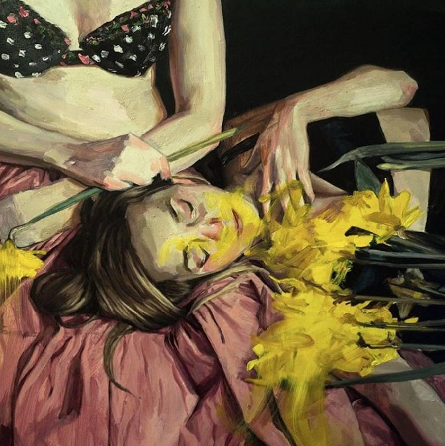 Delicate Paintings by He?le?ne Delmaire