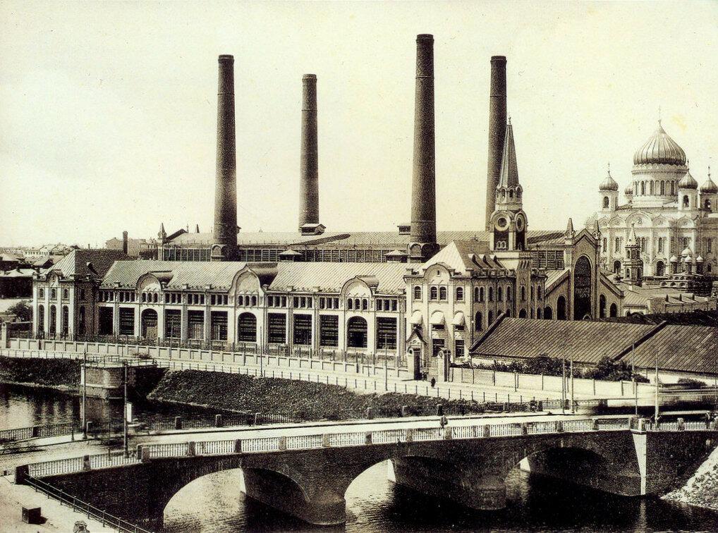 728 Малый Каменный мост 1910-11 и Трамвайная электростанция на Водоотводном канале.jpg
