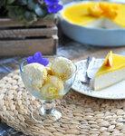 Ванильное мороженое с манго
