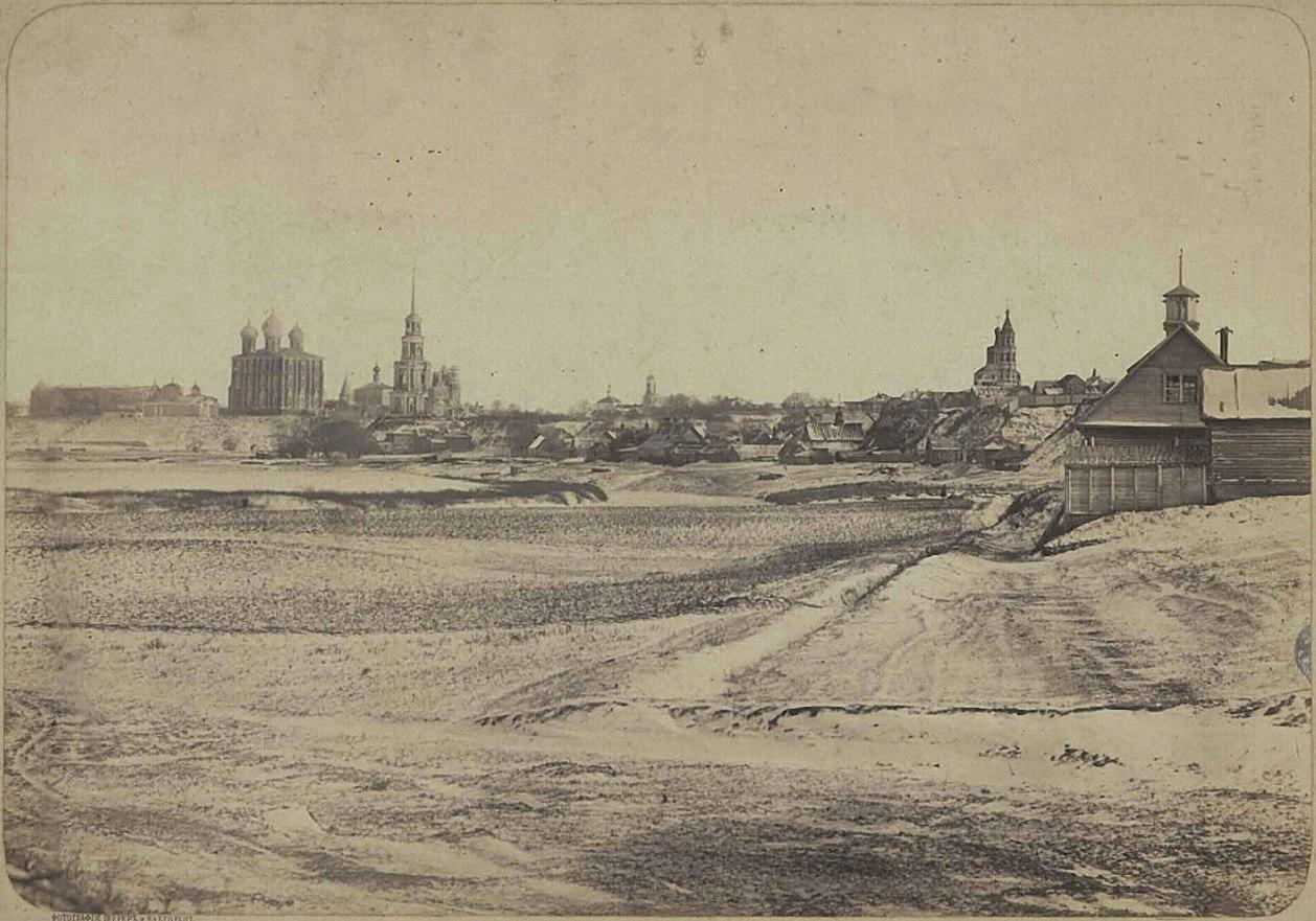 Вид города Рязани с ветви железной дороги (1863—1868)