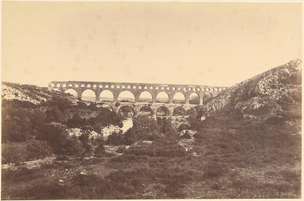 Акведук в Вер-Пон-дю-Гар. 1850-е