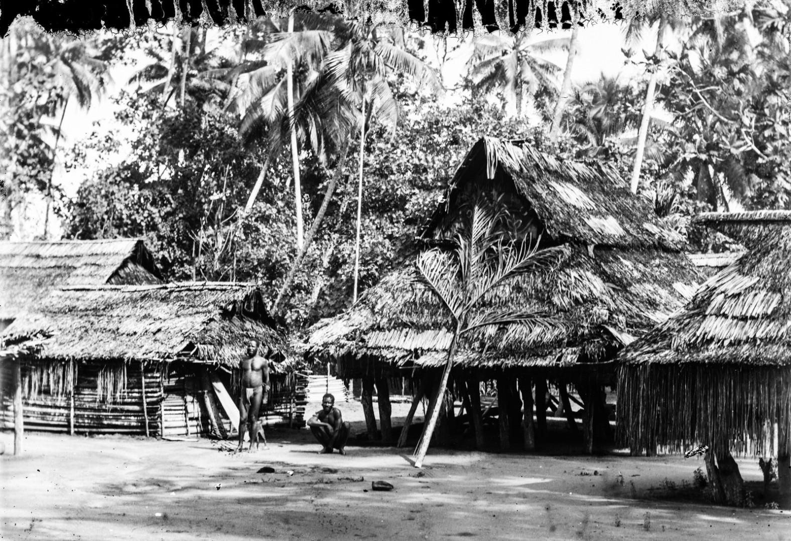 Вид домов в деревне