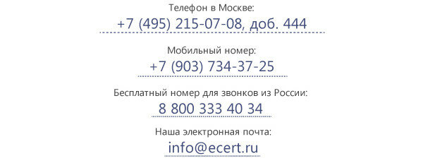 Наши контакты
