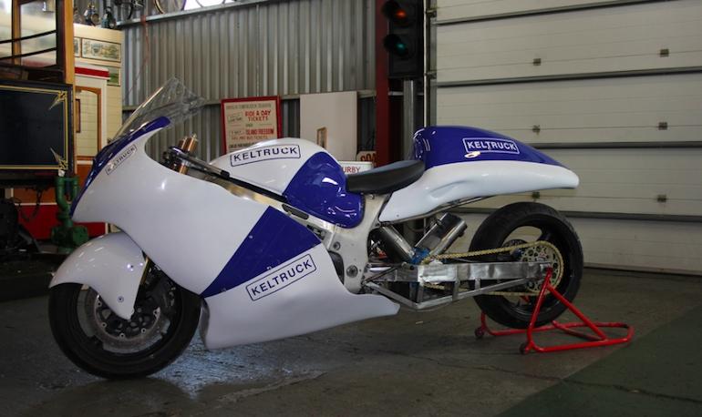 Попытка установить скорость на Suzuki Hayabusa с паровым приводом