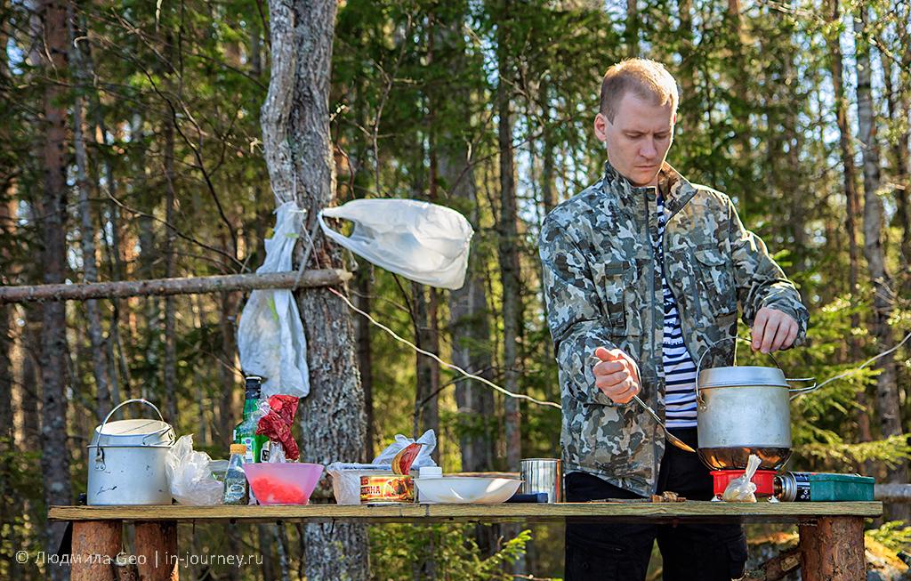 приготовление походного обеда