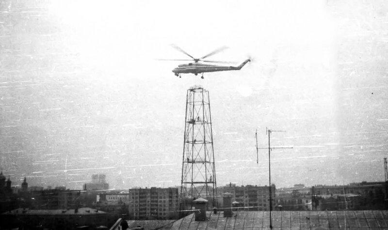 Демонтаж башни на Шаболовке