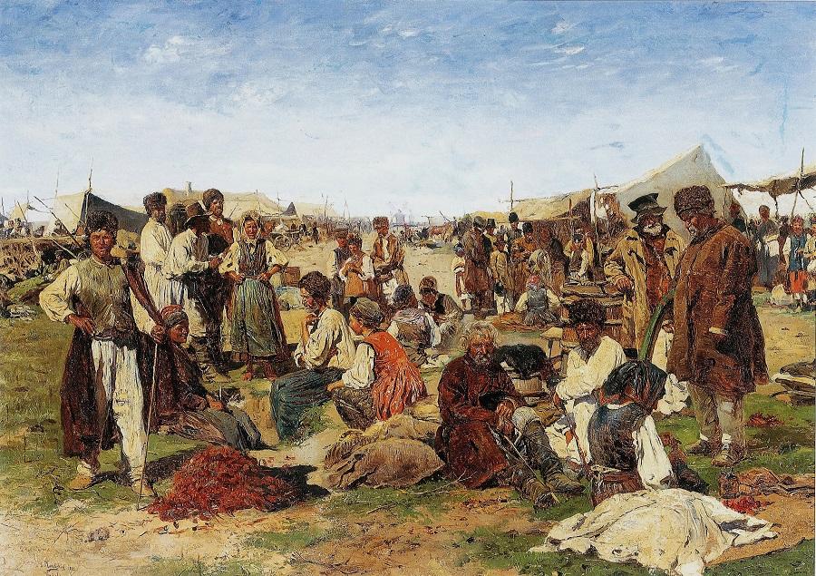 Ярмарка на Украине. 1882 Киевский национальный музей русского искусства, Украина.
