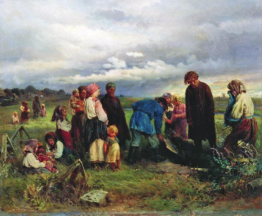 Похороны ребенка. 1872 Севастопольский художественный музей им. М.П. Крошицкого