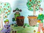 Петрова Варвара (рук. Кравченко Светлана Александровна) - Собираем урожай