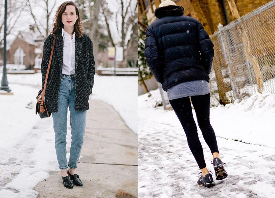 Туфли и кроссовки без носков зимой