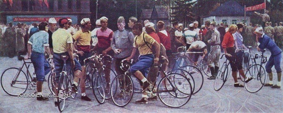 Марченко Георгий Иванович (1913-1981) «Велосипедисты» 1970.jpg