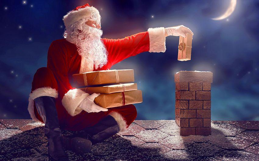 Санта клаус, картинка, новый год, подарки