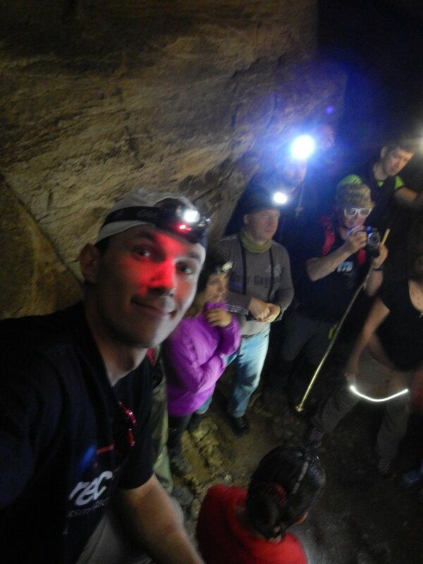Андрей Думчев в пещере