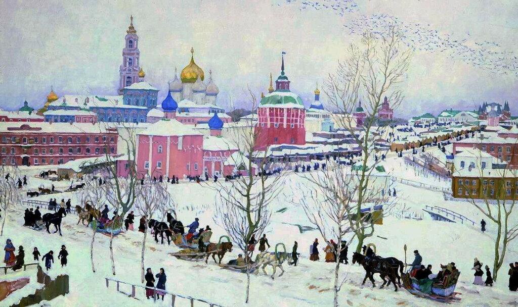 1910 Троицкая лавра зимой. Холст, масло. 125x198. ГРМ.jpg