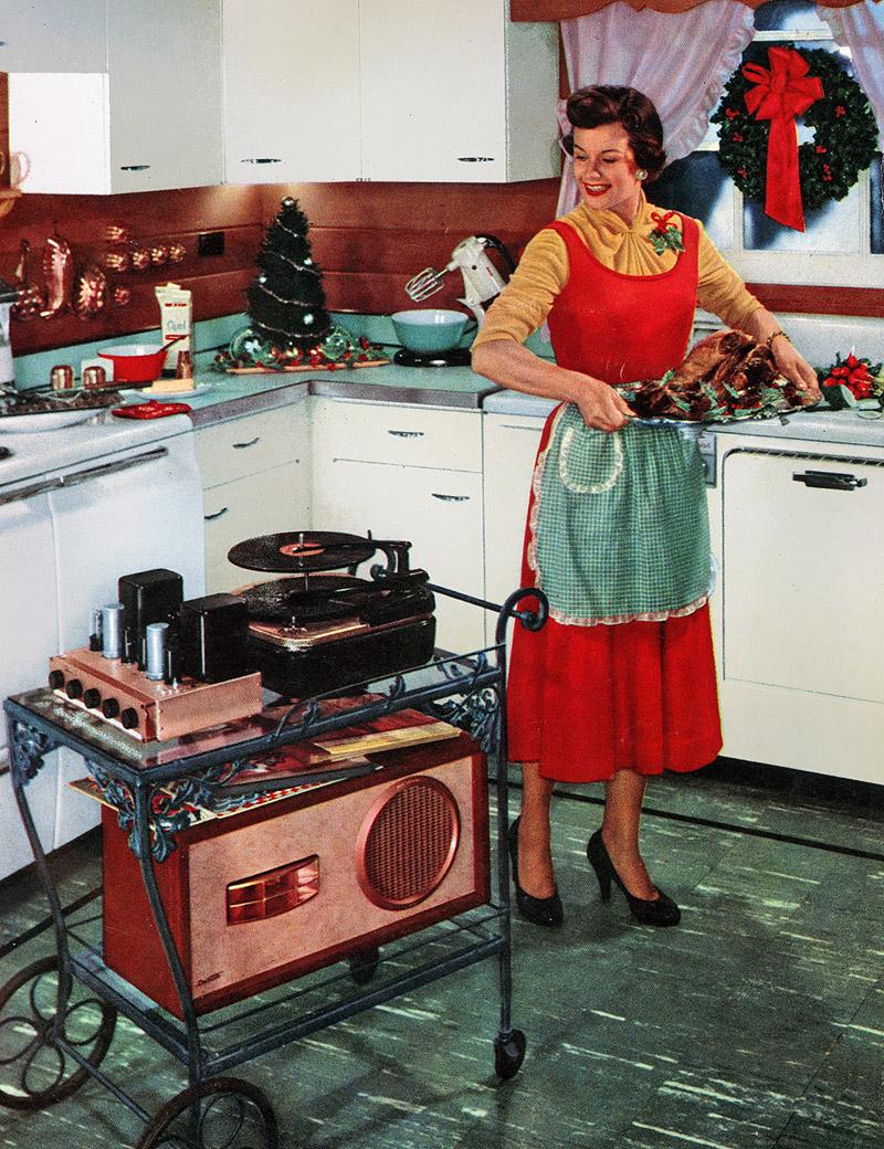 8. К 1954 году в большинстве американских домов уже появились телевизоры. Так выглядела тогда т