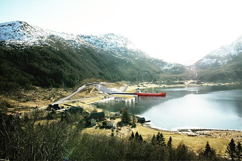 Судоходный тоннель внутри полуострова в Норвегии