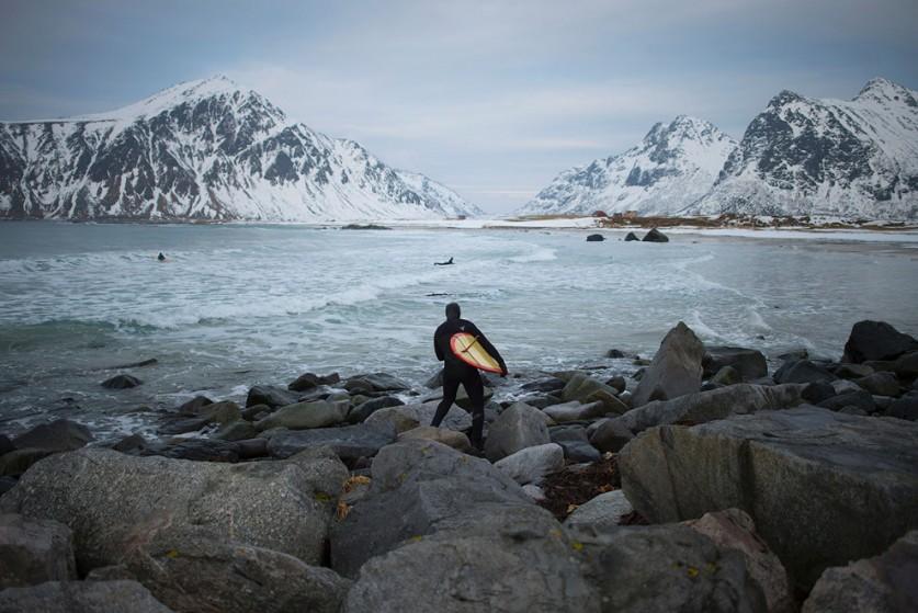 Северное сияние, Флакстад, Норвегия.