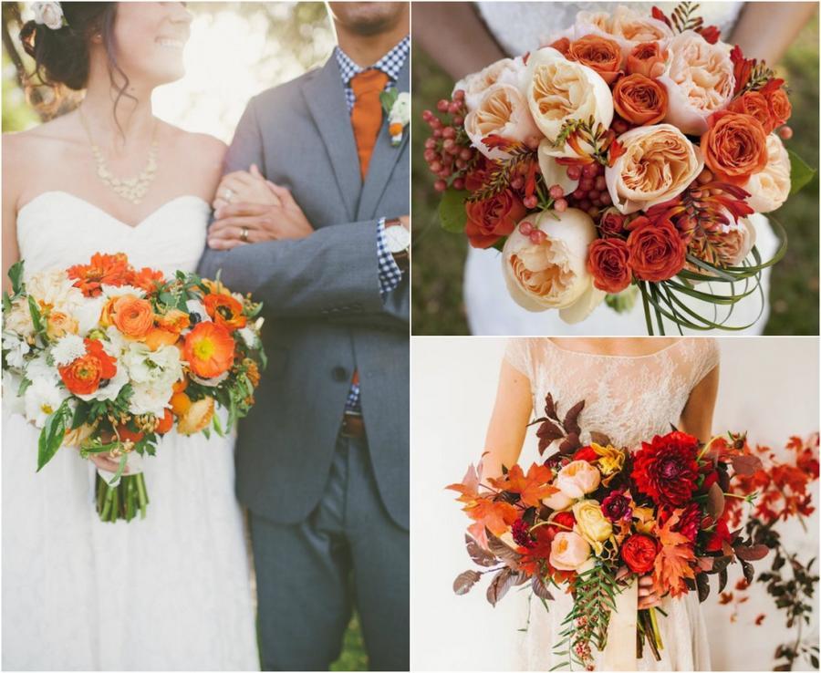 1. Оранжевый, желтый и красный Такая палитра красок считается самой классической для осени. Для буке