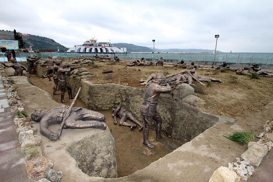20. Эпизод Первой мировой войны с фигурами солдат в полный рост, Эджеабат, Турция В годы Первой миро