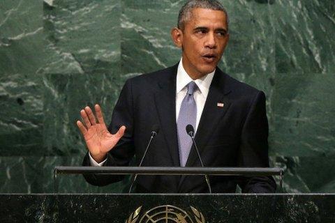 Обама обвинил Россию впопытках силой вернуть себе былую славу