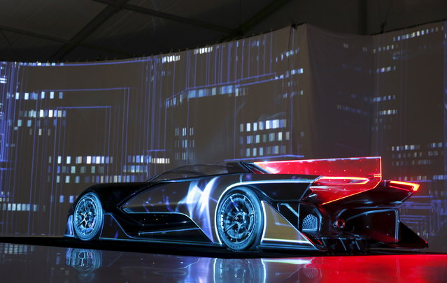 The Faraday Future FFZERO1 electric concept car is unveiled during a news conference in Las Vegas Tu