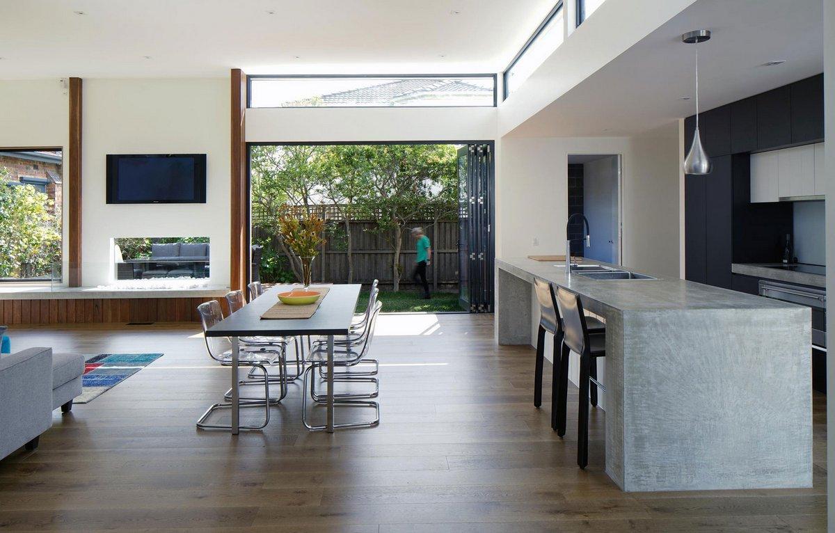 Cumquat Tree House, Christopher Megowan Design, планировка частного дома фото, реконструкция частного дома фото, домашний кинотеатр в частном доме