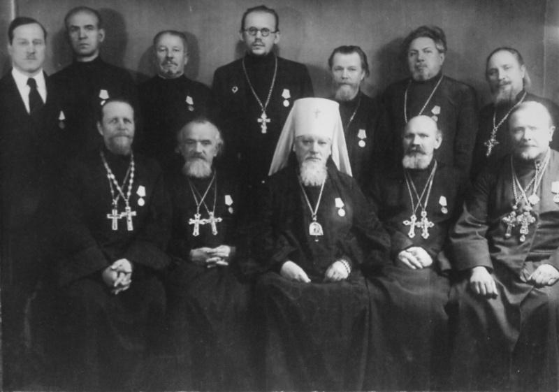 Советские священнослужители, награжденные медалями «За оборону Ленинграда».jpg