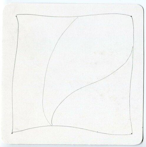 Создание плитки Зентангл - проведение струн (Строк), 3 этап
