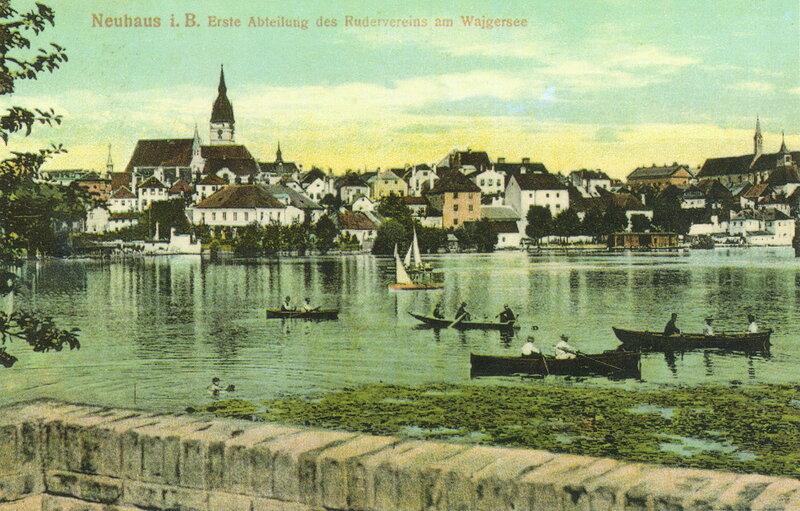 Нойхаус (Йиндржихув-Градец) и озеро Вайгерзее (Вайгар), 1915 г.