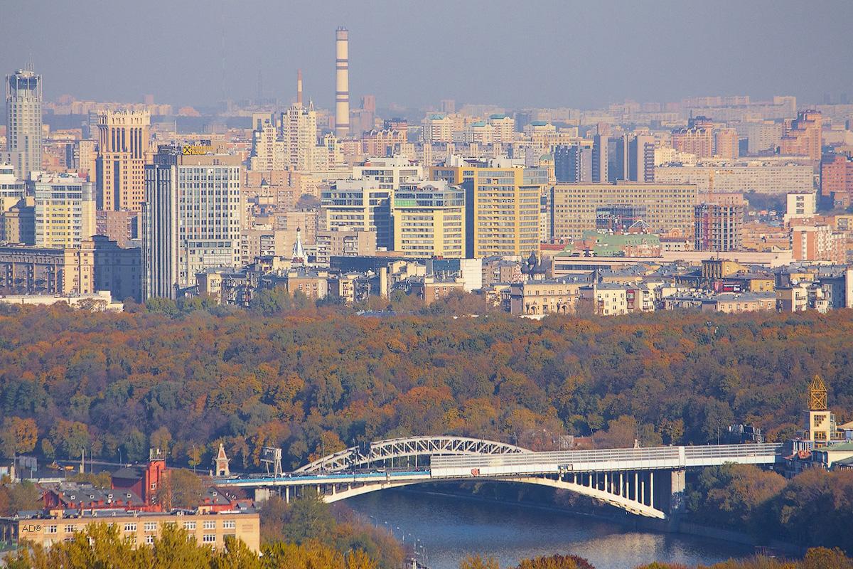 Новоандреевский мост, Нескучный сад и Замоскворечье