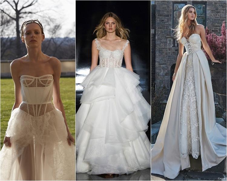 Модные свадебные платья весна-2017: корсет