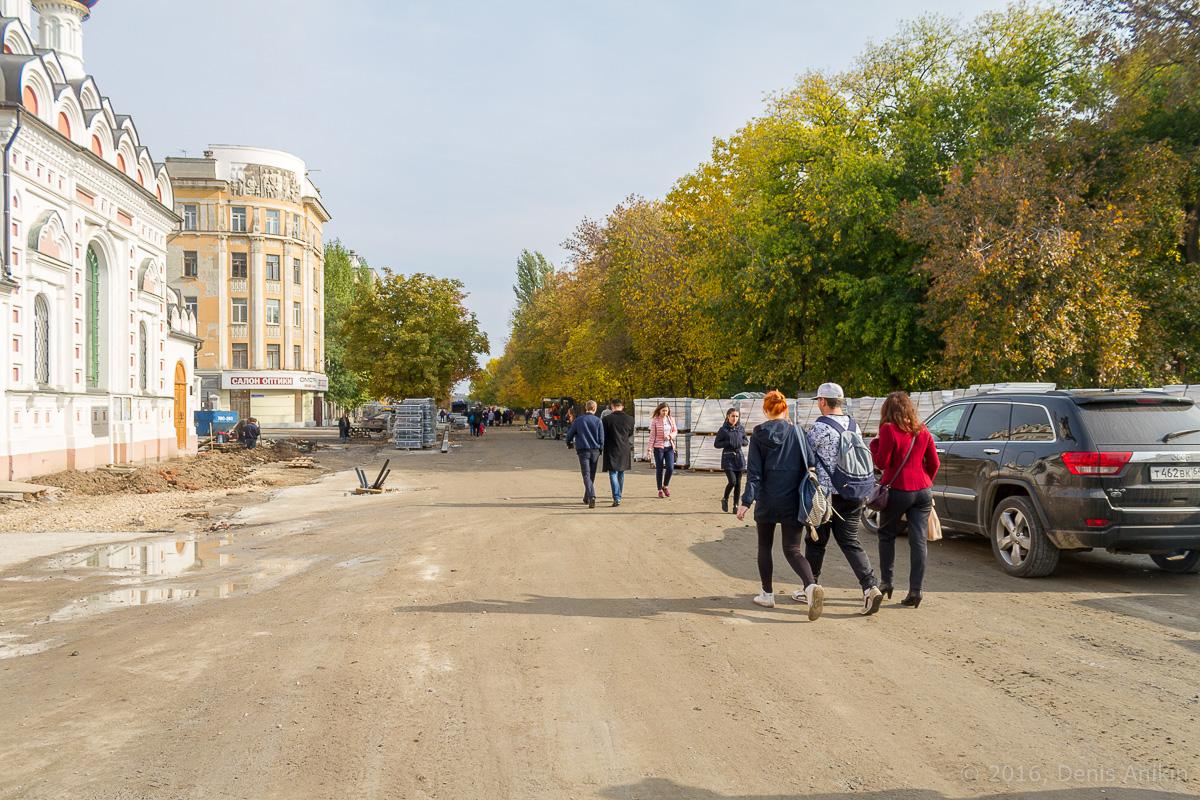 Строительство пешеходной зоны Саратов фото 5
