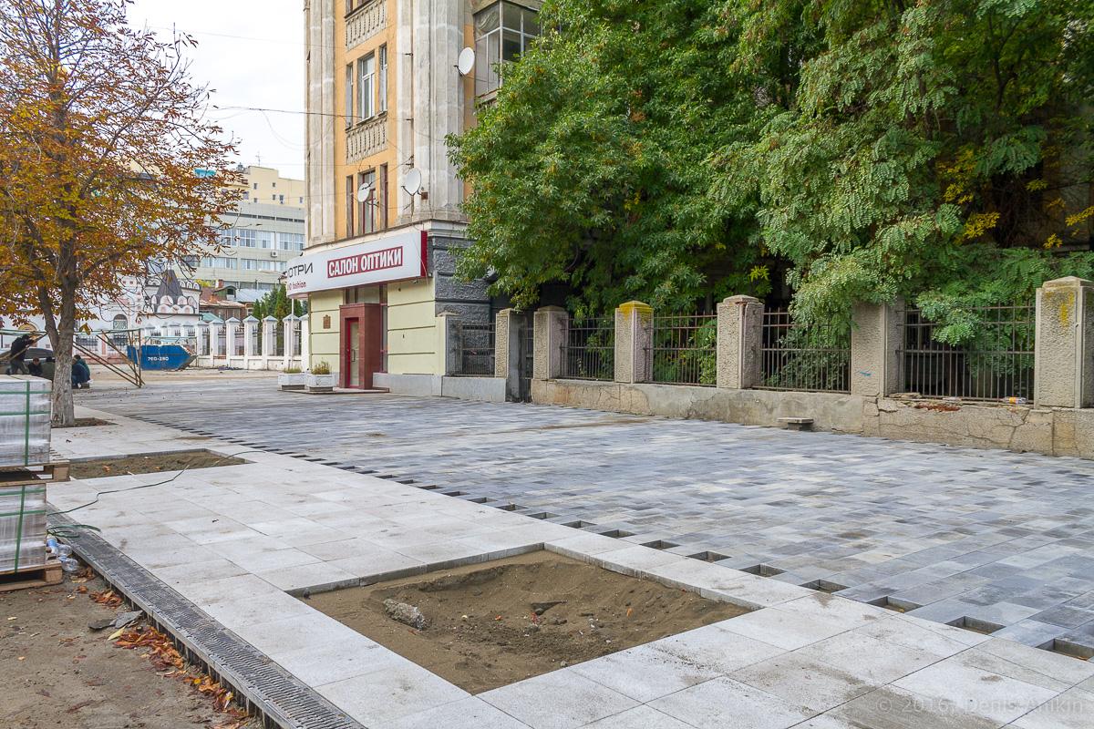 Строительство пешеходной зоны Саратов фото 7