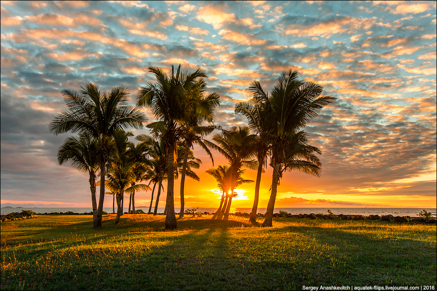Закат на Фиджи