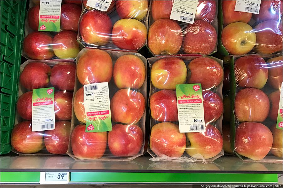 Цены на овощи в Норвегии