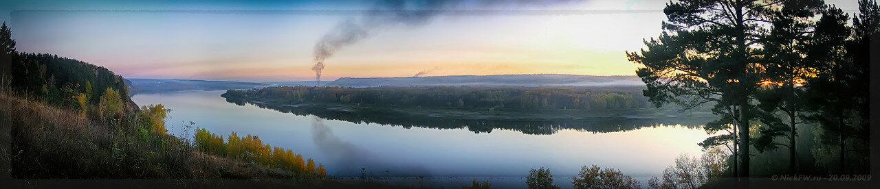 Панорама Томи с Верхотомского яра (© NickFW - 20.09.2009)