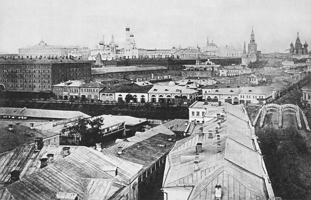 40530 Вид в сторону Кремля с колокольни церкви Усекновения главы Иоанна Предтечи, что под Бором кон. 1860- 1870-е гг..jpg