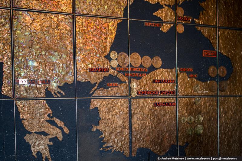 карта в музее Пицунда