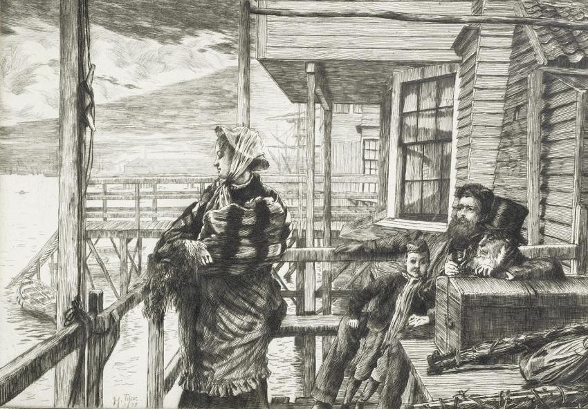 1877 Трактир Три вороны офорт, сухая игла.jpg