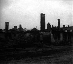 144. 1916. Руины польского местечка