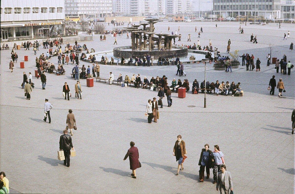 Александерплац. Вид с фонтаном Дружбы