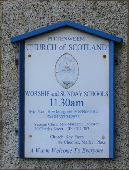 Рыбацкий посёлок. Питтенуим. Национальная пресвитерианская церковь Шотландии