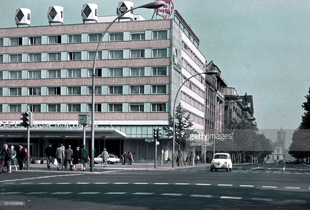 1954 Berlin, East sector, street scene Unter den Linden - Friedrichstrasse.jpg
