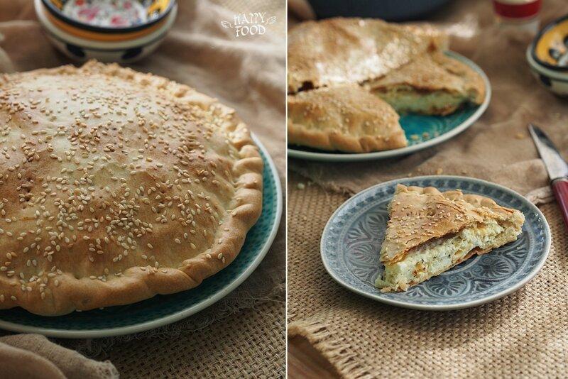 Пирог в греческом стиле с фетой и травами
