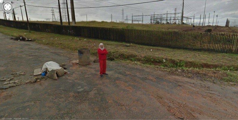 Очень странные фотографии на панорамах Google