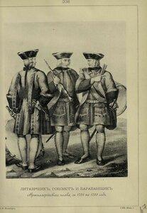 238. ЛИТАВРЩИК, ГОБОИСТ и БАРАБАНЩИК Артиллерийского полка, с 1728 по 1732 год.